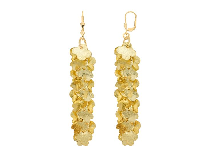 golden flower bomb earring by strawberry & cream