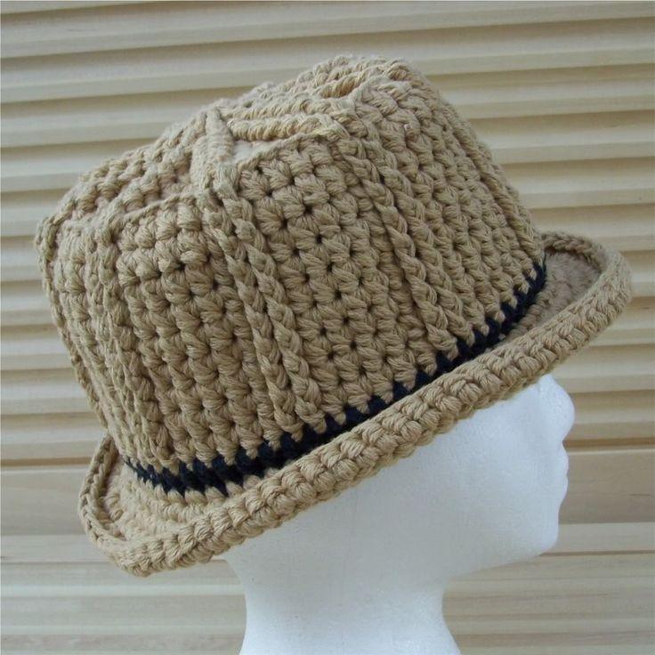 Free Crochet Pattern For A Baby Fedora Hat ~ Pakbit for . c13e12837d3