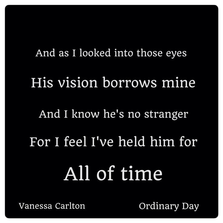 Ordinary Day -Vanessa Carlton
