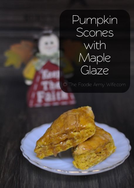 pumpkin scones with maple glaze breakfast scones breakfast dessert ...