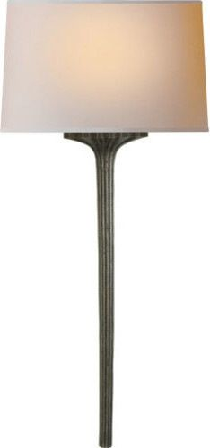 E.F. Chapman Strie 1-Light Wall Sconce, Aged Iron With Wax transitional-wall-sconces