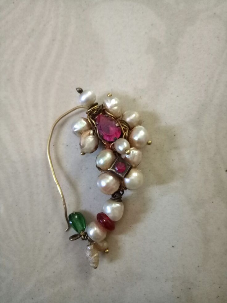 Old traditional antique nath  Original pearls
