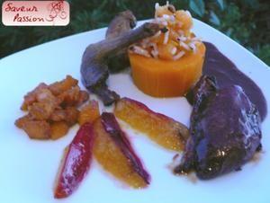 Sirop de Liège : pigeon en deux cuissons, prune, butternut et noisette - SAVEUR PASSION
