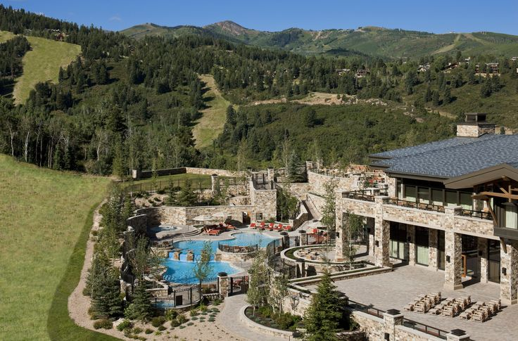 Summer view and pool at The St. Regis Deer Valley in Park City, UT