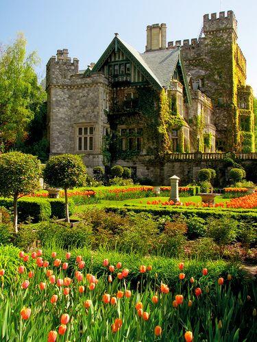 Hatley Castle and Hatley Park (Royal Roads University) in Victoria, Vancouver Island, British Columbia, Canada
