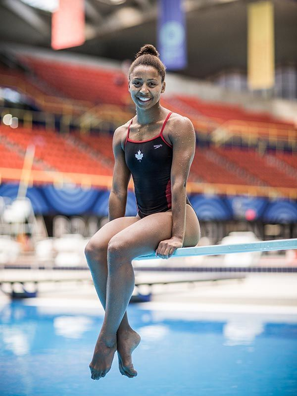 What it feels like to be Jennifer Abel diving from a 3-m springboard, Olympians #fitness #inspiration #naturalhair