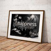 """Tabloul """"Happiness Cloud"""" ne aminteste ca frumusetea se afla in momentele de fericire ale fiecaruia dintre noi.  #albnegru #blackandwhite #fericire #motivare #oameni #pozitiv #psihologie #stiinta #tablou #viata #poster #tablouri #tablouricanvas"""