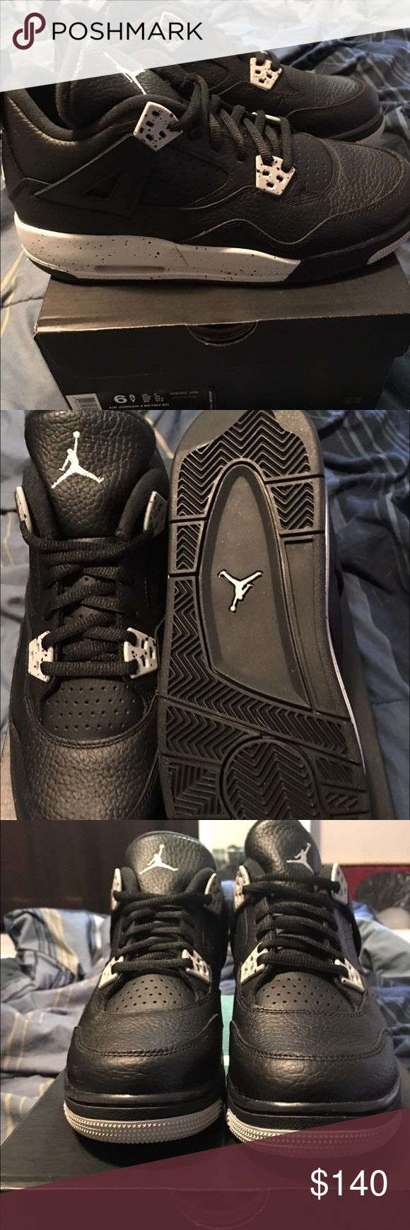 Air Jordan Oreo 4s size 6.5y Brand new dead stock never worn size 6.5y Jordan Oreo 4. Jordan Shoes Sneakers