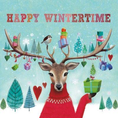Happy Wintertime, sfeervolle servet voor de koude dagen