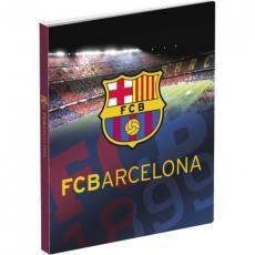 Ringband met twee ringen en een afbeelding van FC Barcelona. De ringband is geschikt voor A4 papier.