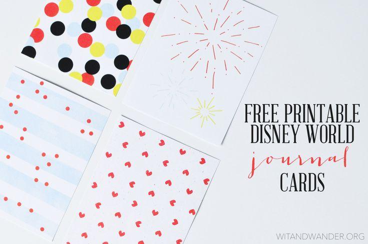 FREE PRINTABLE DISNEY WORLD JOURNAL CARDS – WALT DISNEY WORLD COUNTDOWN