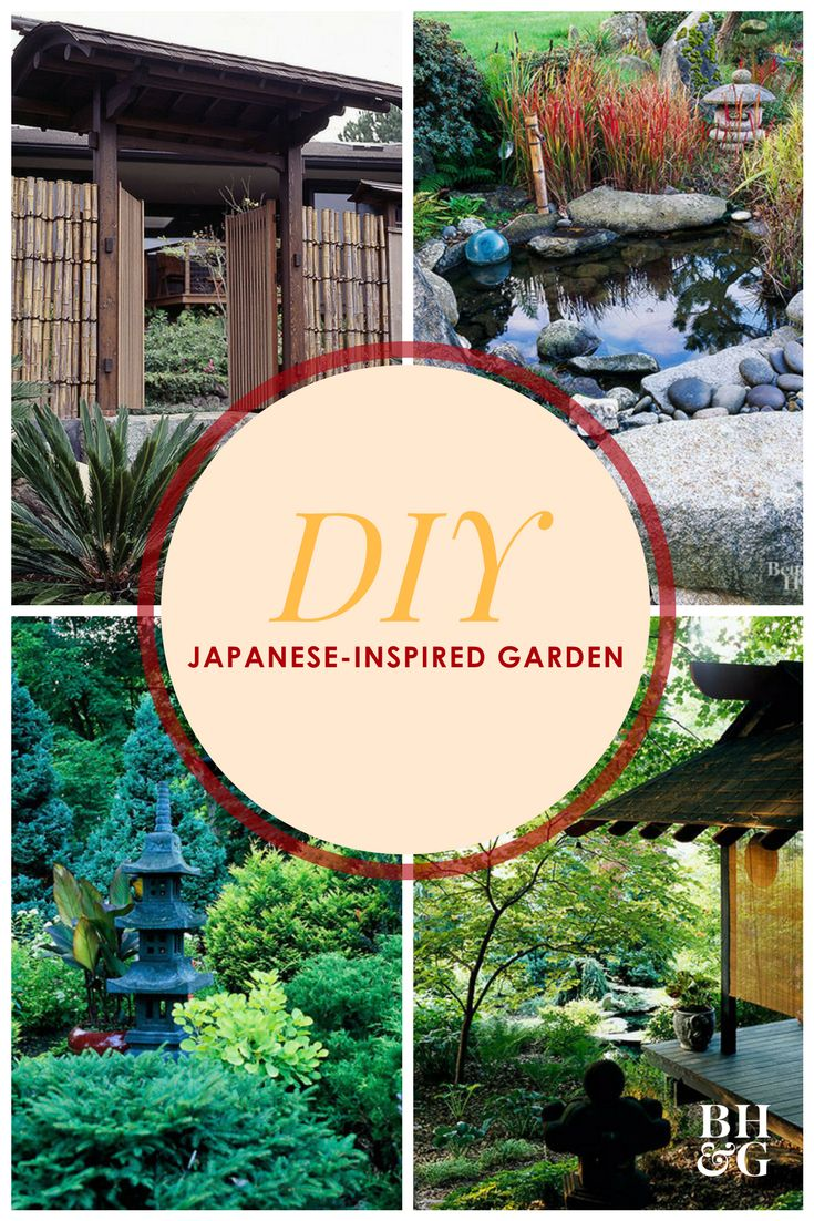Japanese gardens, characterized by stones, water, and minimal amounts of color, are traditionally designed to be calming spaces for meditation and reflection. We're sharing 18 ideas to create your own #Zen garden. #japanesegarden #gardening