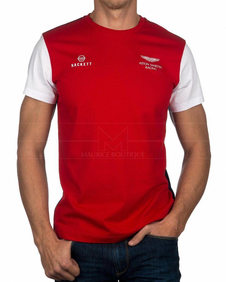 Camiseta HACKETT ASTON MARTIN ® Wings | Roja & Marino