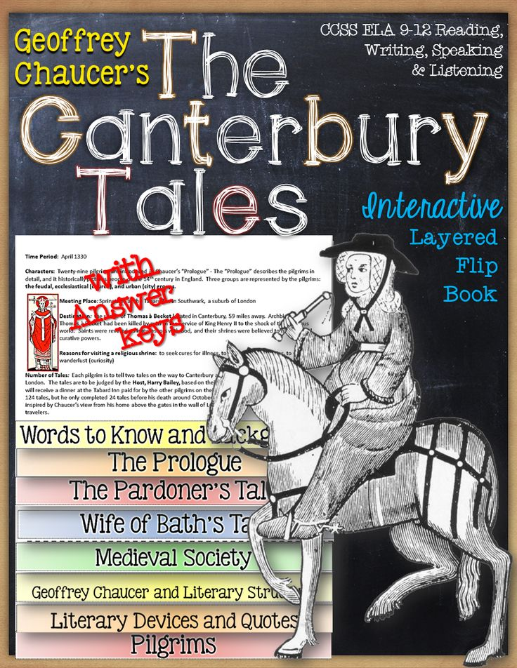 an analysis of themes in the canterbury tales a book by geoffrey chaucer The canterbury tales: character analysis geoffrey chaucer's canterbury tales, written in approximately 1385, is a collection of twenty-four stories ostensibly told by various people who are going on a religious pilgrimage to canterbury cathedral from london, england.