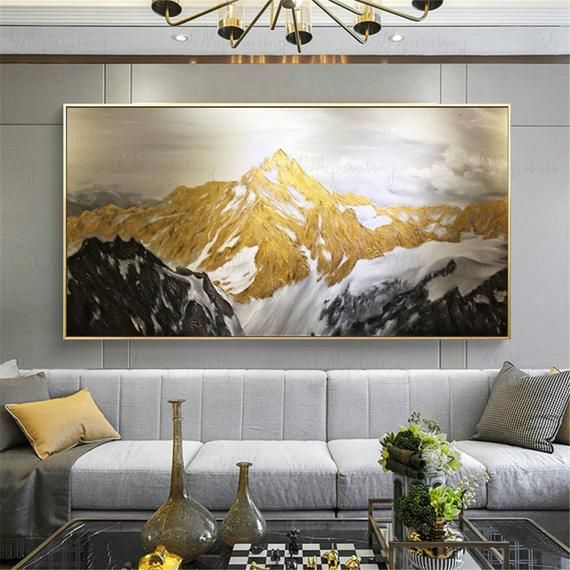 Gold Art Abstract Painting Canvas Wall Art For Living Room Etsy In 2021 Canvas Wall Decor Gold Abstract Painting Wall Art Pictures Bedroom decor canvas abstract painting