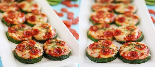Rápidas y fáciles mini pizzas de calabacín
