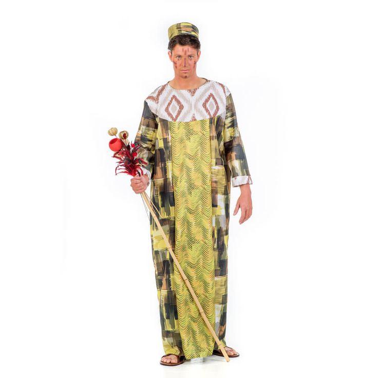 Disfraz de rey de tribu africana para hombre