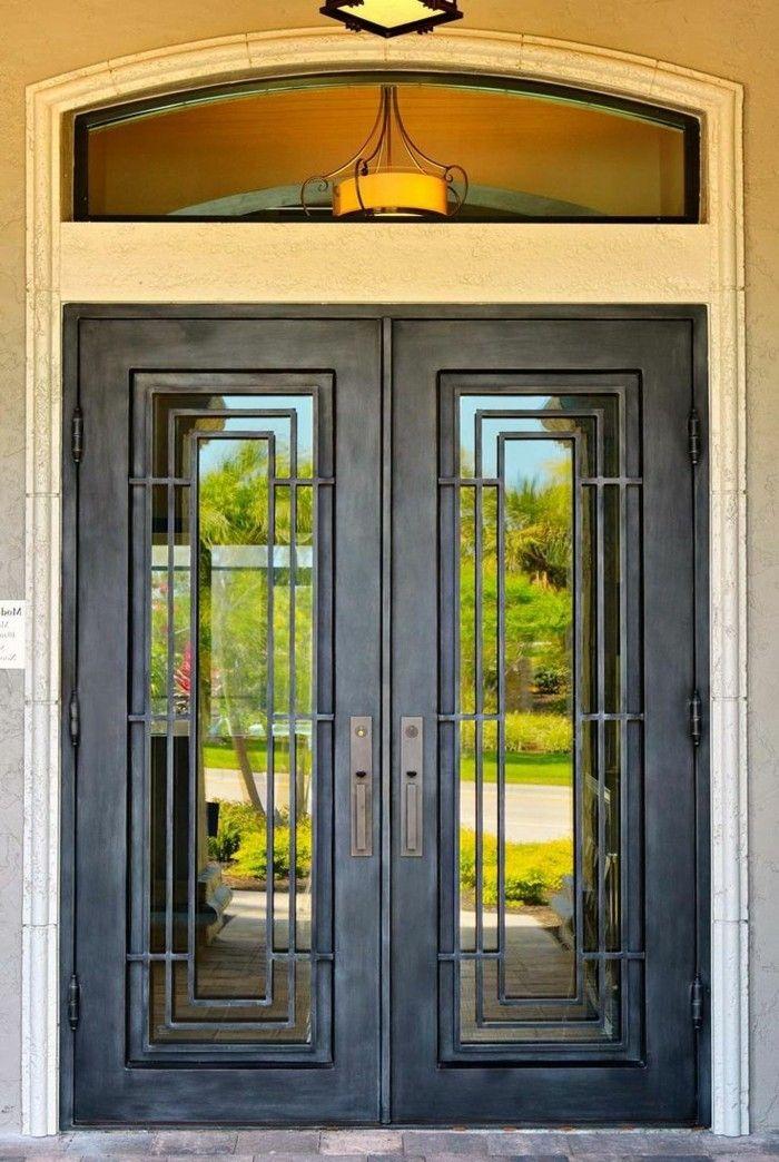 Les 25 meilleures id es de la cat gorie portes en fer sur pinterest portes en fer forg fer for Porte entree fer forge verre