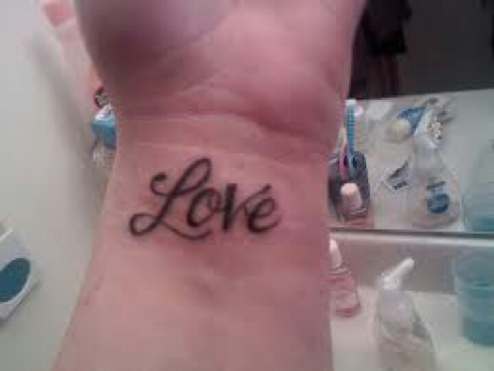 Love wrist tattoo ♥