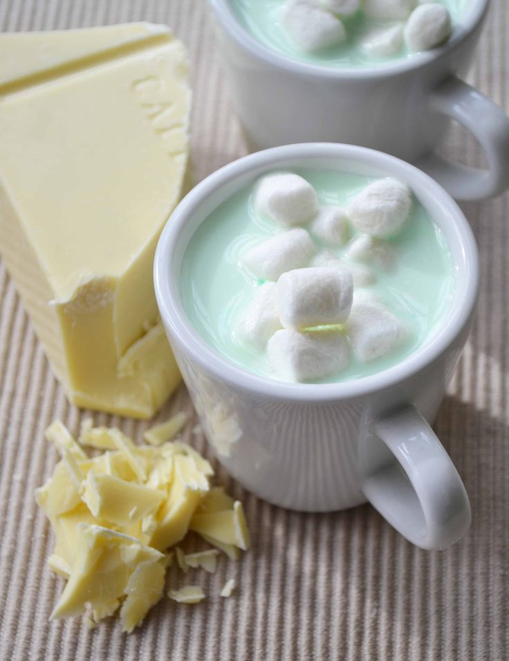 Mint White Hot Chocolate. Tasty for winter.