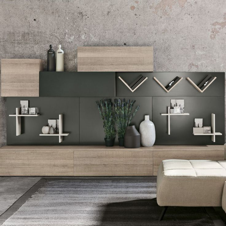 style sectional wooden storage wall magnetika living magnetika living collection by ronda design
