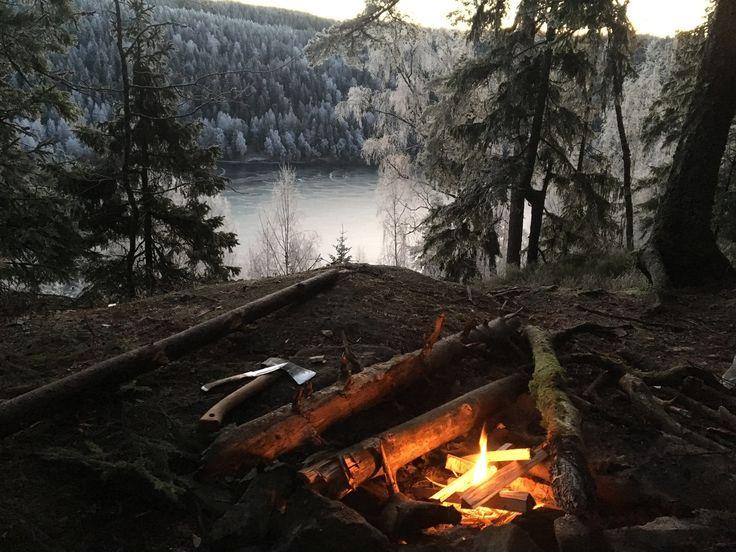Early Morning Bonfire