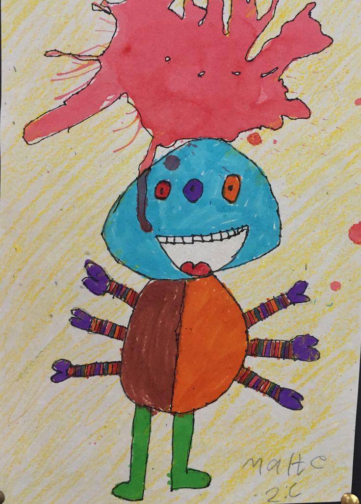 2. klasse arbejder med monstre