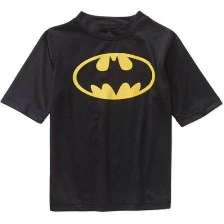 Batman - Dc Comics License Swim - Batman Rashguard, Black