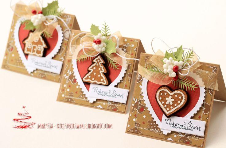 MarysJa - rzeczy nieZwykłe: pierniczkowe kartki :)