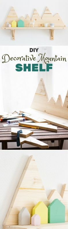 Check out this sweet and simple tutorial and make your own DIY decorative mountain shelf.