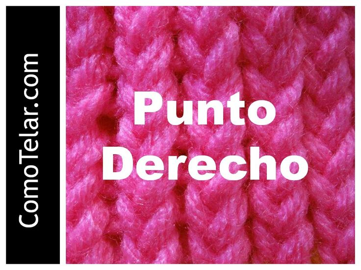 PUNTO DERECHO en Telar Circular - Loom Knit Stitch in Spanish