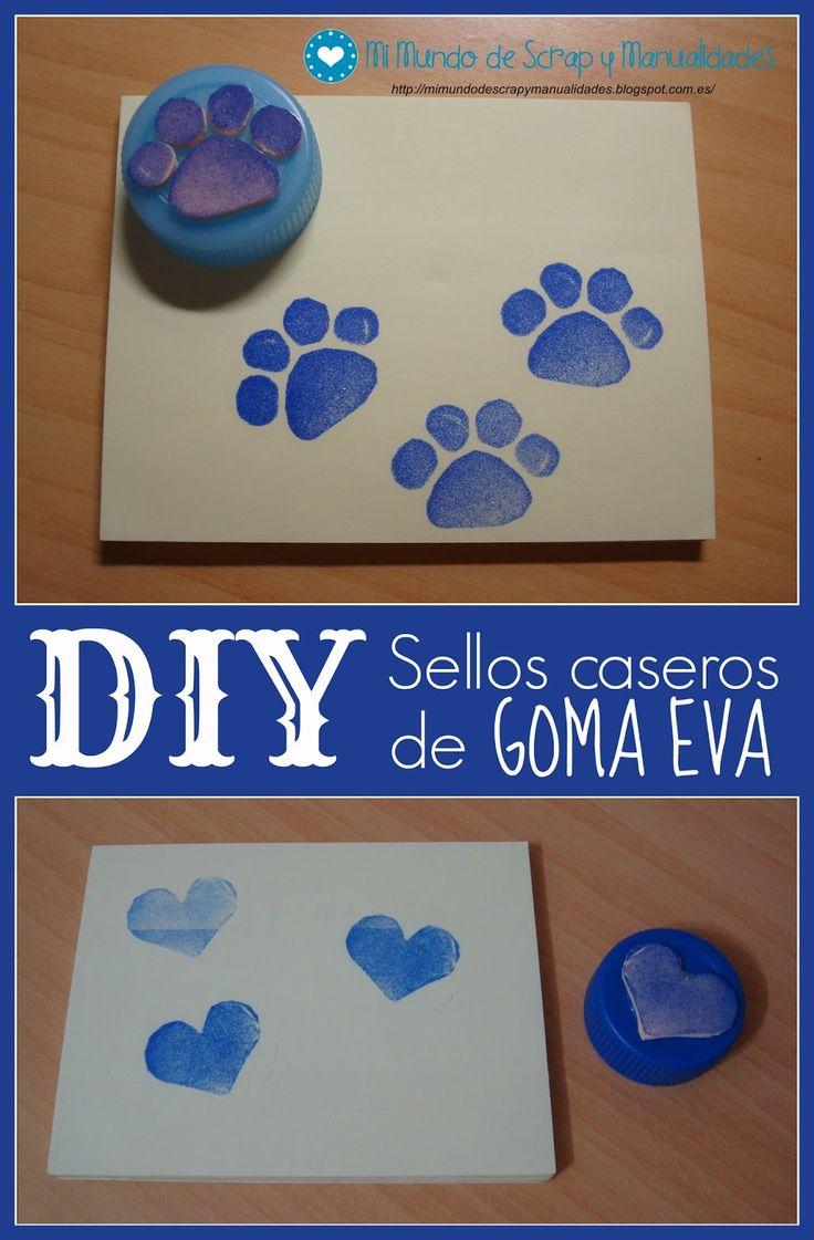 Hoy quiero enseñaros una idea que vi hace tiempo por Internet y que por fin me decidí a poner en práctica: sellos  hechos con goma EVA (foa...