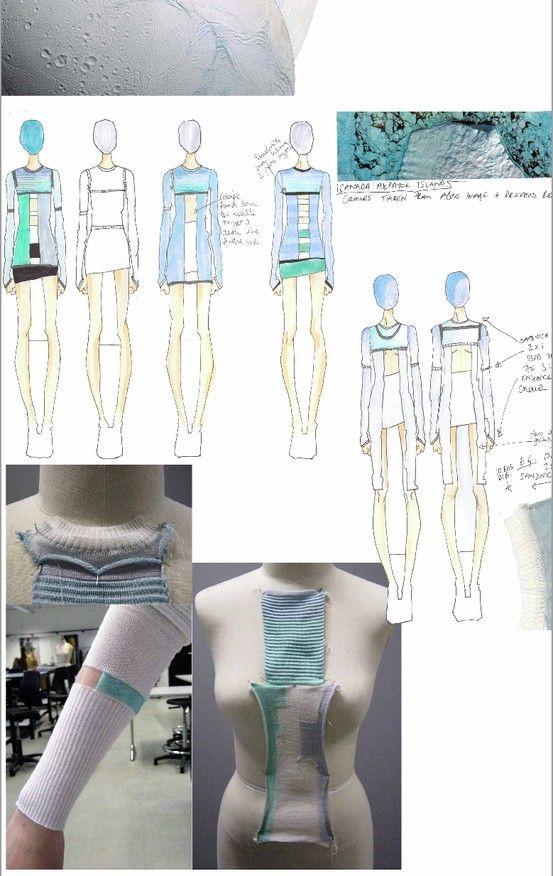 Fashion Design Process - fashion sketchbook illustrations & knitwear design development; fashion portfolio // Adele Parker