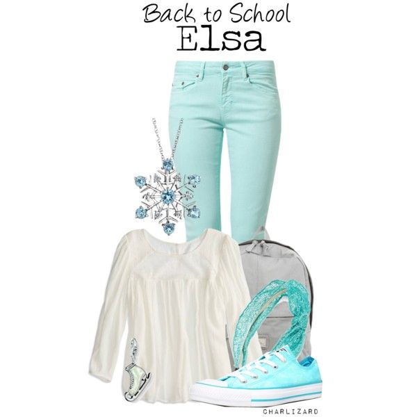Disney Bound: Elsa from Frozen; Back To School Outfit; by charlizard