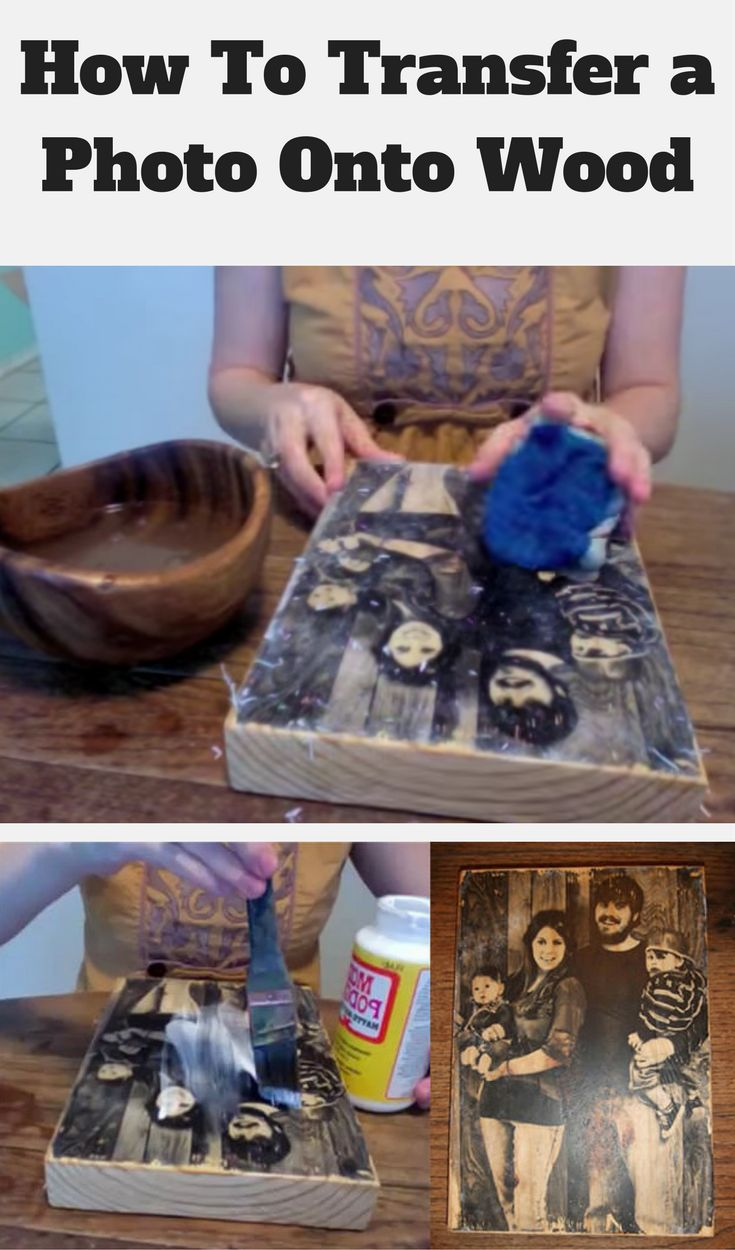 Transferring a photo to wood, like in this method, has a nice rustic look and I think it's fabulous.