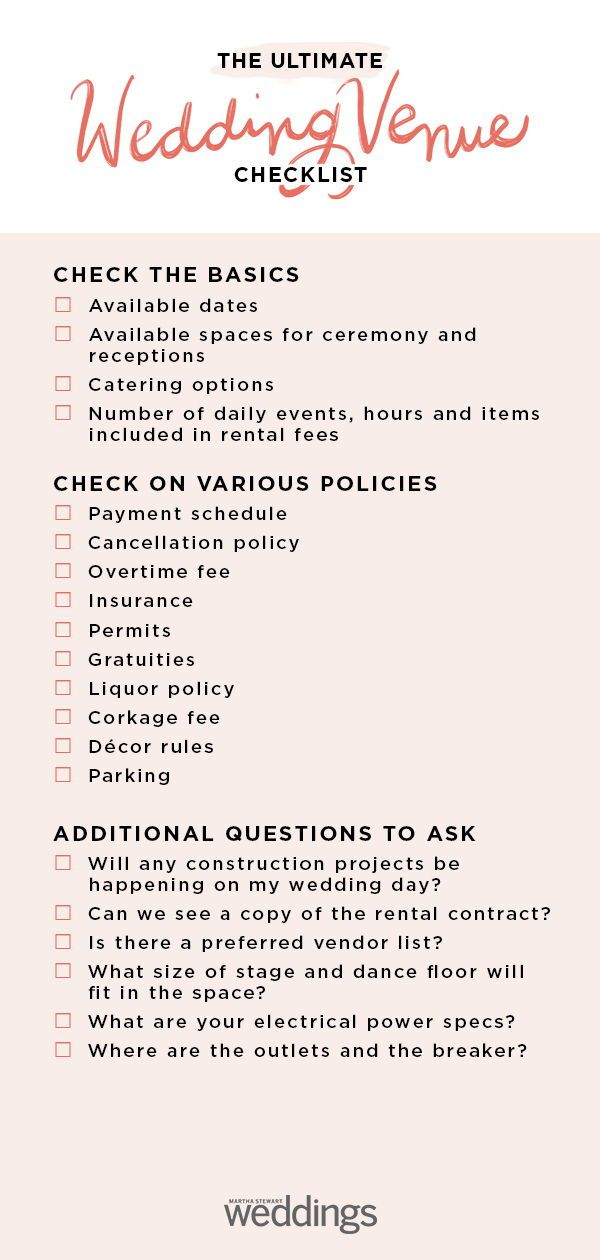 Wedding Venue Checklist Wedding Venues Checklist Wedding Checklist Wedding Venues