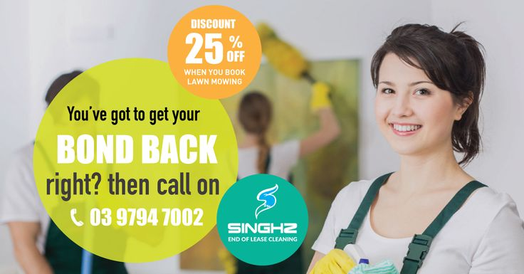 Are you looking for a professional bond cleaning you can afford? Then look no further than Singhz End of Lease Cleaning Melbourne. And get 25% off on Lawn Mowing. #BondCleaning #LeaseCleaning