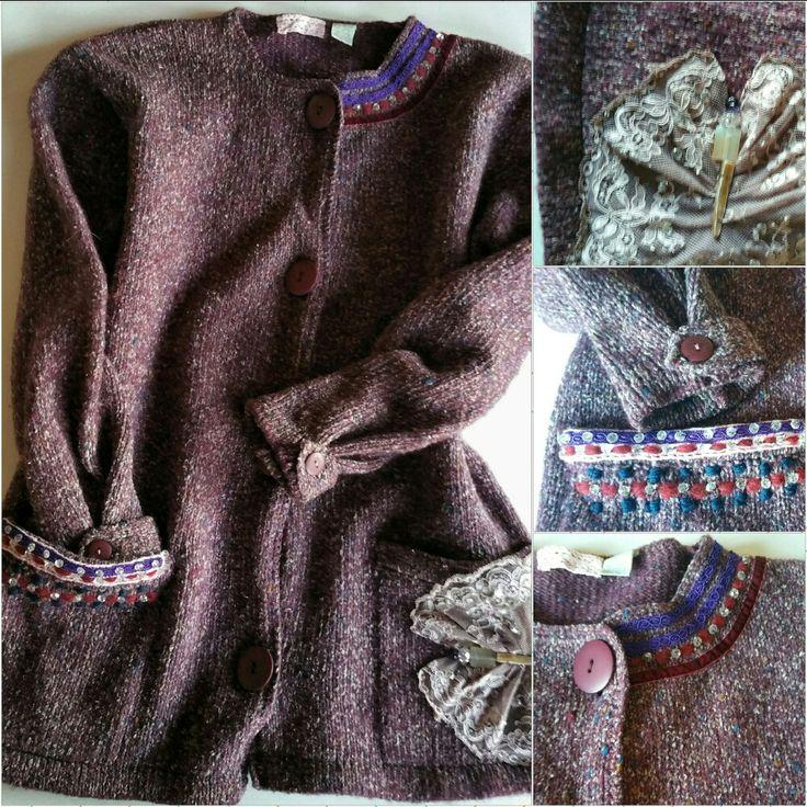 Cardigan in lana melange personalizzata