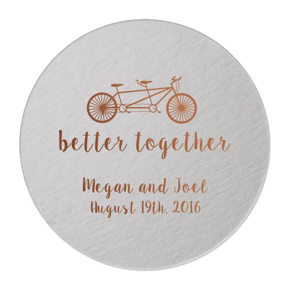 These coasters make perfect party accessories for any occasion. They would be great at a wedding, bridal shower, birthday party or any other occasion where a party is involved! These coasters can be p