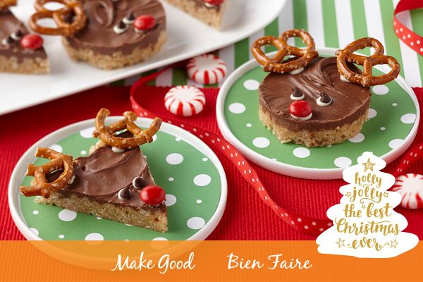 A very Merry Christmas to everyone celebrating! Wherever you are, we hope you enjoy good food with good company, like these happy Reindeer Scotcheroos!  https://www.makegood.ca/content/reindeer-scotcheroos  #makegood #recipe #MerryChristmas #HappyHolidays #reindeer #scotcheroos #dessert #baking #Christmas #family #holiday #foodie