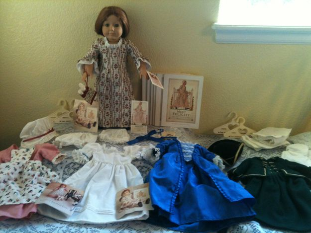 Felicity doll with four outfits, plus six books: $700. | How Much Is An Original American Girl Doll Worth?