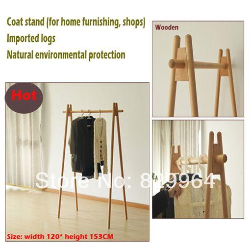 Wood coat rack manufacturing durable solid wood coatrack ,wardrobe,wooden bedroom furniture,clothes wardrobe,Oak  $195.00