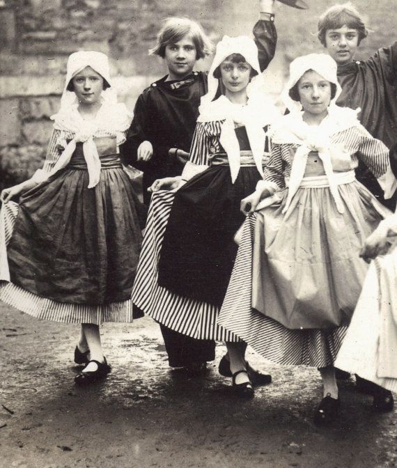 Children Dancing in Caen 1900s RPPC by redpoulaine on Etsy, $14.00