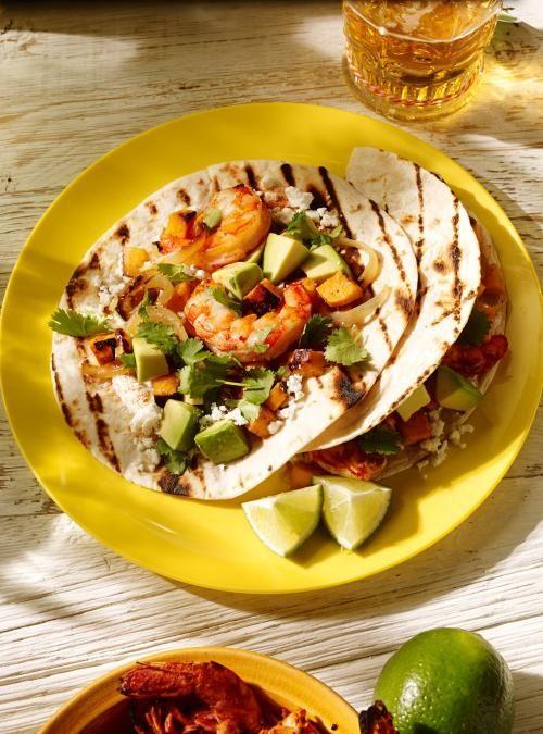 Tacos de crevettes chipotle et de patate douce