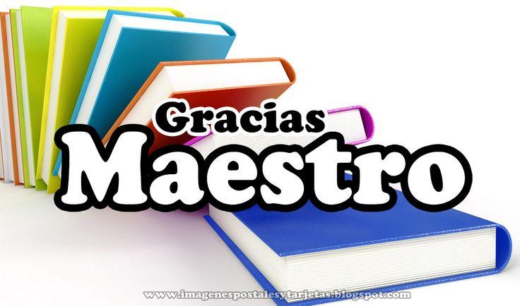 Gracias Maestro - Tarjetas para el dia del Maestro ~ Imagenes ...