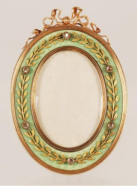 286 best Antique gold, silver & enamel photo frames images on ...