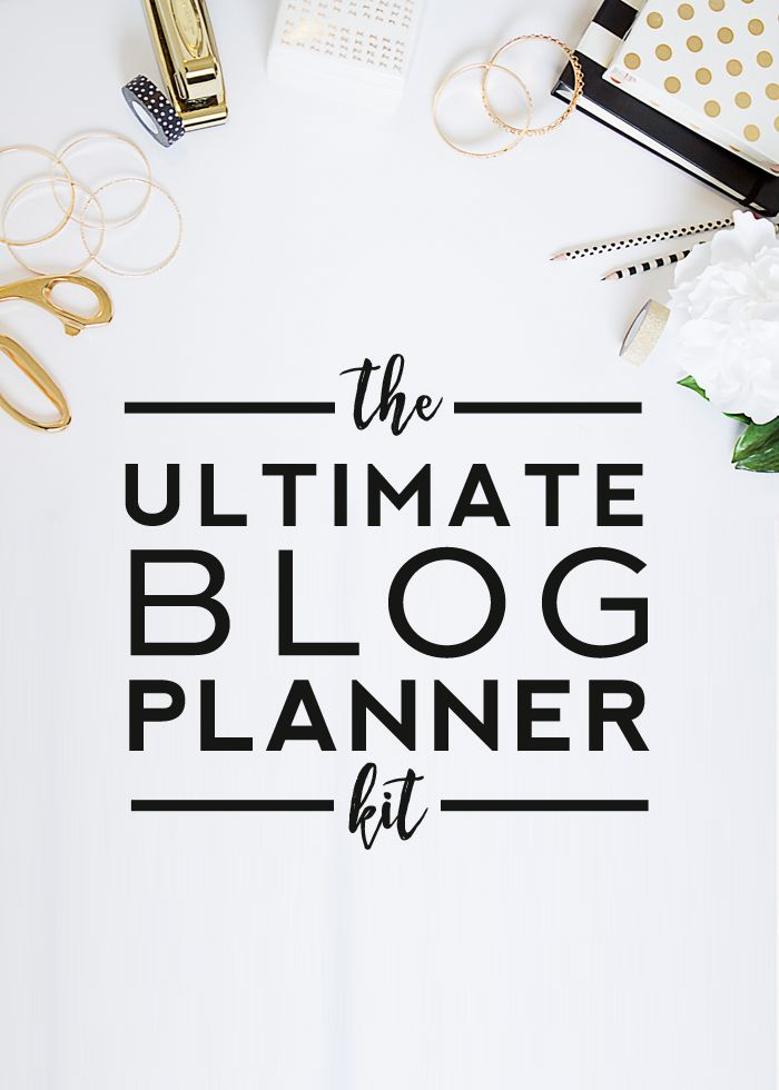 Free Printable | Ultimate Blog Planner Kit - Designer Blogs