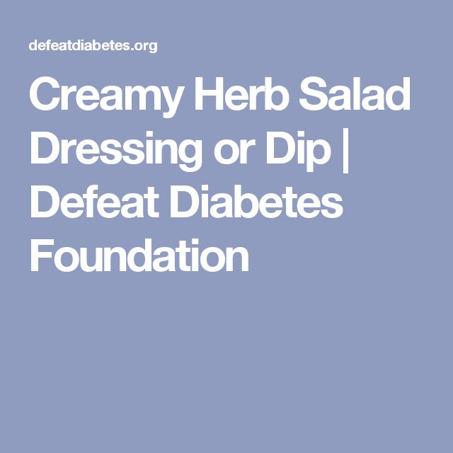 Creamy Herb Salad Dressing or Dip | Defeat Diabetes Foundation
