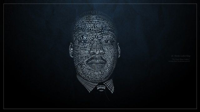excerpt from his famous speech.  upd: article about this video http://portable.tv/art/post/martin-luther-king-is-a-man-made-of-words/ thanks Portable!