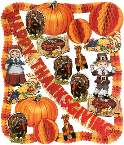 thanksgiving pictures | Thanksgiving Theme Decorating Kit (Regular or Flameproof)